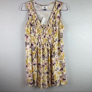 Old Navy Sleeveless Pleated Floral Swing Dress NWT